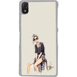 ifasho modern Girl painting Back Case Cover for Sony Xperia Z3
