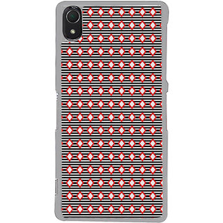 ifasho Animated Pattern of diagonal on black stripes  Back Case Cover for Sony Xperia Z3
