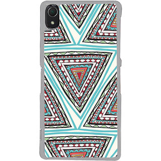 ifasho Animated Pattern colrful tribal design Back Case Cover for Sony Xperia Z3