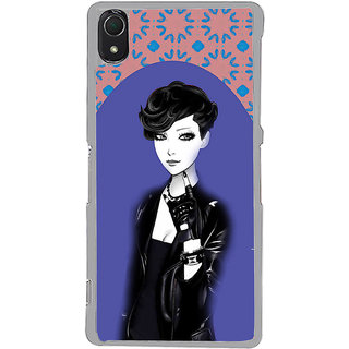 ifasho Girl in Black Jacket Back Case Cover for Sony Xperia Z3