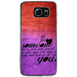 ifasho Love Quote Back Case Cover for Samsung Galaxy S6 Edge