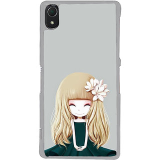 ifasho Girl  with Flower in Hair Back Case Cover for Sony Xperia Z3