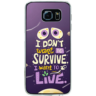 ifasho life Quotes Back Case Cover for Samsung Galaxy S6