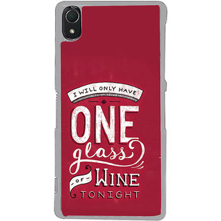 ifasho drink quotes Back Case Cover for Sony Xperia Z3