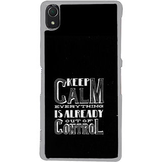 ifasho Nice Quote On Keep Calm Back Case Cover for Sony Xperia Z3
