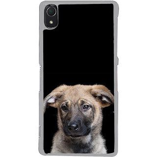 ifasho Grey Dog Back Case Cover for Sony Xperia Z3