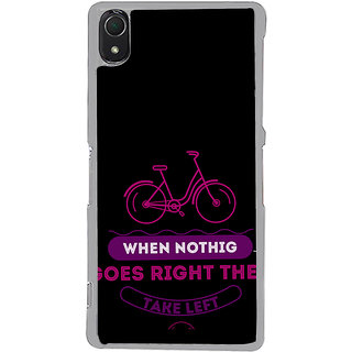 ifasho Right and Wrong Quote Back Case Cover for Sony Xperia Z3