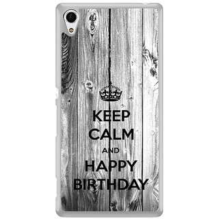 ifasho Nice Quote On Keep Calm Back Case Cover for Sony Xperia Z3 Plus
