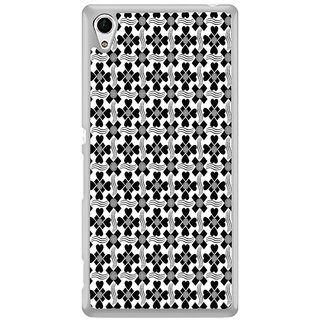 ifasho Animated Pattern design black and white flower in royal style Back Case Cover for Sony Xperia Z3 Plus
