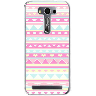 ifasho multi color Triangular and love Pattern Back Case Cover for Zenfone 2 Laser ZE500KL