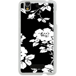 ifasho Animated Pattern rose flower with leaves Back Case Cover for Yureka