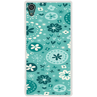ifasho Modern Art Design animated cloth Pattern of flower Back Case Cover for Sony Xperia Z5
