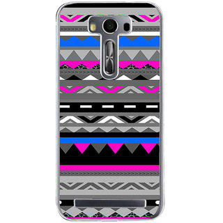 ifasho multi color Triangular and circle Pattern Back Case Cover for Zenfone 2 Laser ZE500KL