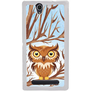 ifasho Animated Owl Pattern Back Case Cover for Sony Xperia C4