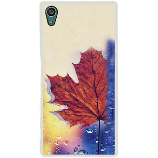 ifasho water Drop on brown leaf Back Case Cover for Sony Xperia Z5