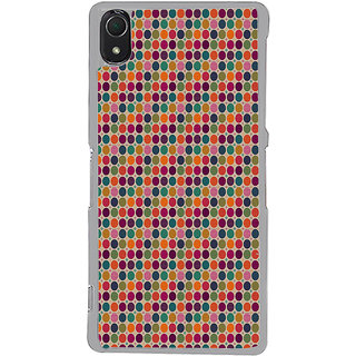 ifasho Animated Pattern  littel and Big colourful Circle Back Case Cover for Sony Xperia Z3