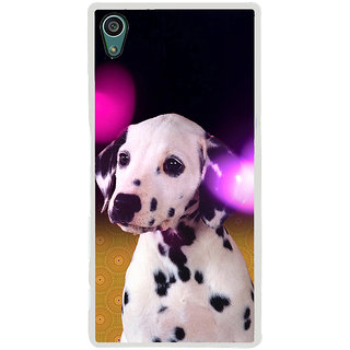 ifasho Black and White Dot Dog Back Case Cover for Sony Xperia Z5