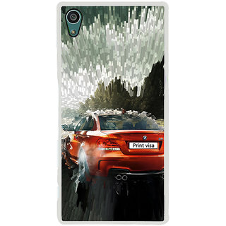 ifasho Animation Car Back Case Cover for Sony Xperia Z5