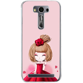 ifasho Princess Girl Back Case Cover for Zenfone 2 Laser ZE500KL