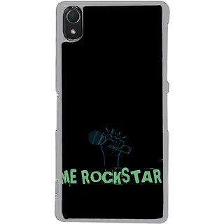 ifasho me rock star quote Back Case Cover for Sony Xperia Z3