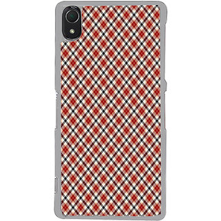 ifasho Colour Full Square Pattern Back Case Cover for Sony Xperia Z3