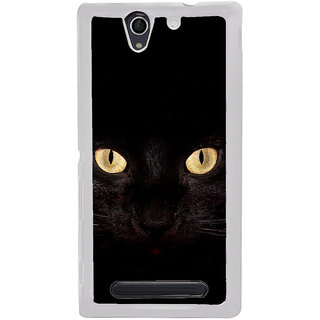 ifasho shining eyes of cat Back Case Cover for Sony Xperia C4