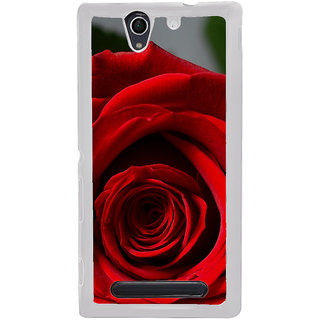 ifasho Red Rose Back Case Cover for Sony Xperia C4