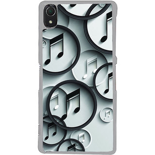 ifasho Modern Art Design Pattern Music symbol Back Case Cover for Sony Xperia Z3