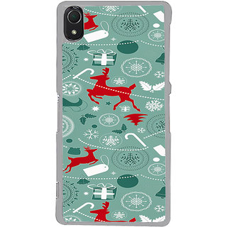 ifasho Animated Pattern design colorful flower in royal style Back Case Cover for Sony Xperia Z3