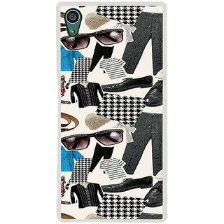 ifasho Modern Art Design Pattern man dress shoes spec belt Back Case Cover for Sony Xperia Z5