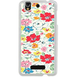 ifasho Animated Pattern colrful flower with leaves Back Case Cover for Yureka