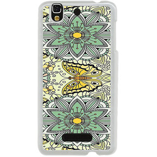 ifasho Animated Pattern colrful flower and butterfly Back Case Cover for Yureka