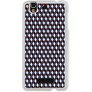 ifasho Maroon Colour rectangular Pattern Back Case Cover for Yureka