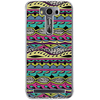 ifasho Modern Art Design Pattern lot of Leaf Back Case Cover for Zenfone 2 Laser ZE500KL