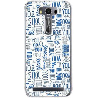 ifasho You letter pattern Back Case Cover for Zenfone 2 Laser ZE500KL