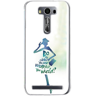 ifasho Quotes on shopping girls Back Case Cover for Zenfone 2 Laser ZE500KL