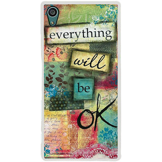 ifasho everything will be ok quotes Back Case Cover for Sony Xperia Z5