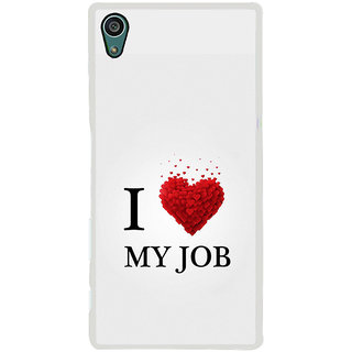ifasho Love Quotes I love my job Back Case Cover for Sony Xperia Z5
