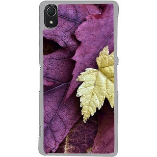 ifasho Fallen Leaf Back Case Cover for Sony Xperia Z3