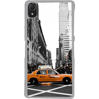ifasho Car In newyork City taxi Back Case Cover for Sony Xperia Z3