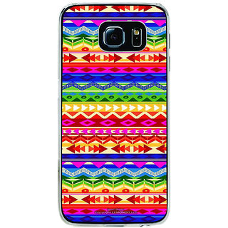 ifasho multi color Triangular and circle Pattern Back Case Cover for Samsung Galaxy S6