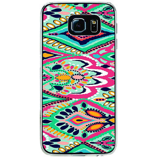 ifasho Modern Art Design animated cloth Pattern of flower Back Case Cover for Samsung Galaxy S6
