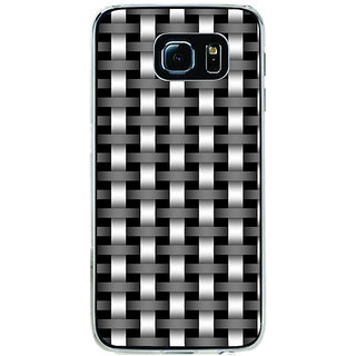 ifasho Modern Art Design animated cloth Pattern of black and white bamboo style Back Case Cover for Samsung Galaxy S6
