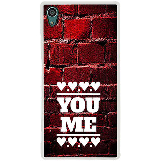 ifasho Quote On Love you and me Back Case Cover for Sony Xperia Z5