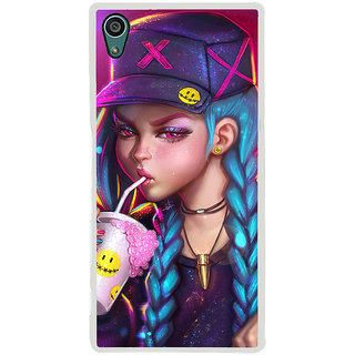 ifasho Girl drinking cold drink Back Case Cover for Sony Xperia Z5