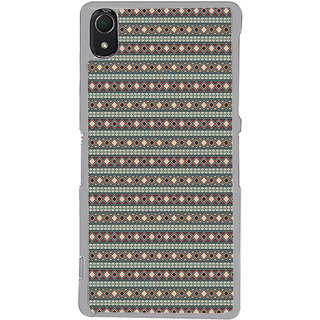 ifasho Animated Pattern colrful tribal design rajasthani style Back Case Cover for Sony Xperia Z3