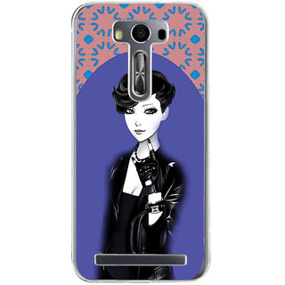 ifasho Girl in Black Jacket Back Case Cover for Zenfone 2 Laser ZE500KL