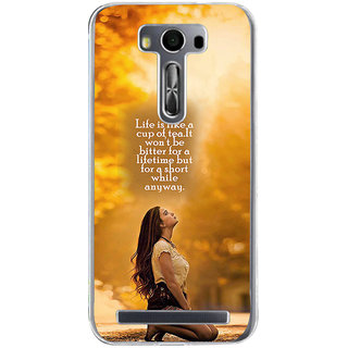 ifasho young Girl with quote Back Case Cover for Zenfone 2 Laser ZE500KL