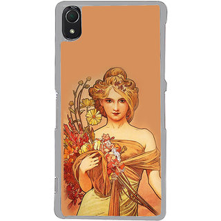 ifasho Young Girl with flower in hand Back Case Cover for Sony Xperia Z3