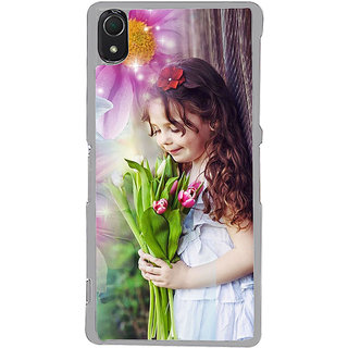 ifasho Girl with flower in hand Back Case Cover for Sony Xperia Z3